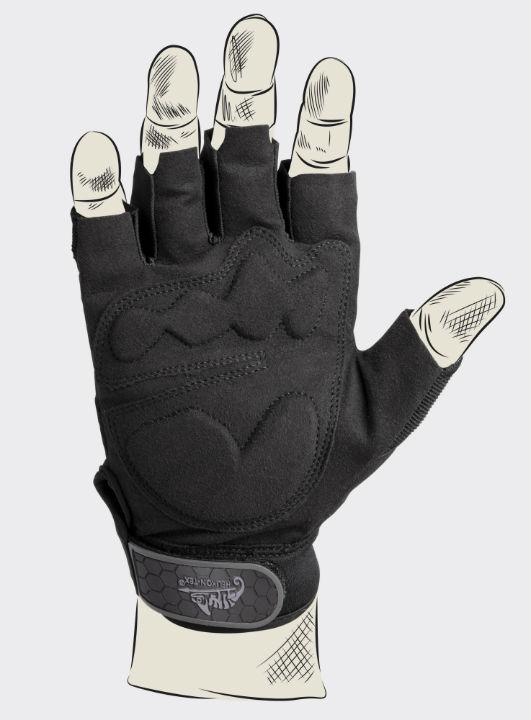 Helikon HALF FINGER Gloves Handschuhe Black RK-HFG-PO-01.