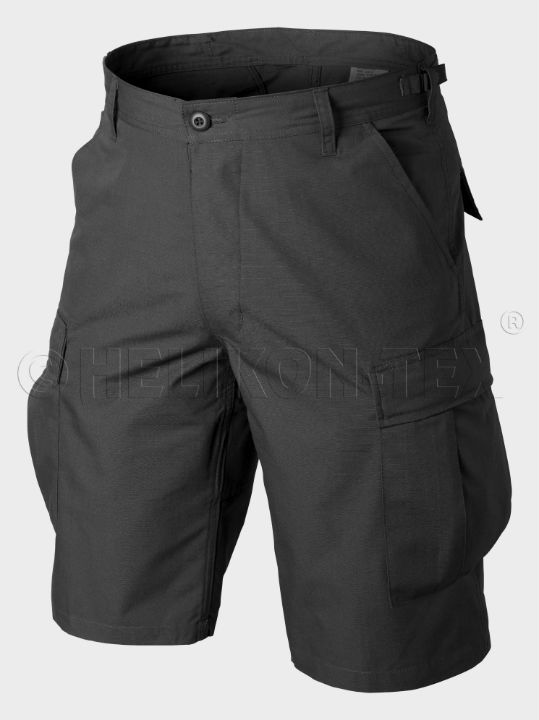 HELIKON-TEX BDU Shorts Ripstop Schwarz Black Hose kurz Shorts SP-BDK-PR-01.