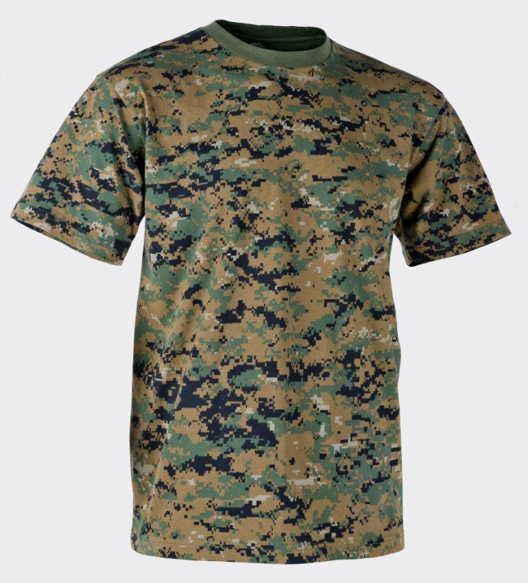 Helikon T-Shirt Cotton USMC Digital Woodland Shirt Marpat TS-TSH-CO-07.
