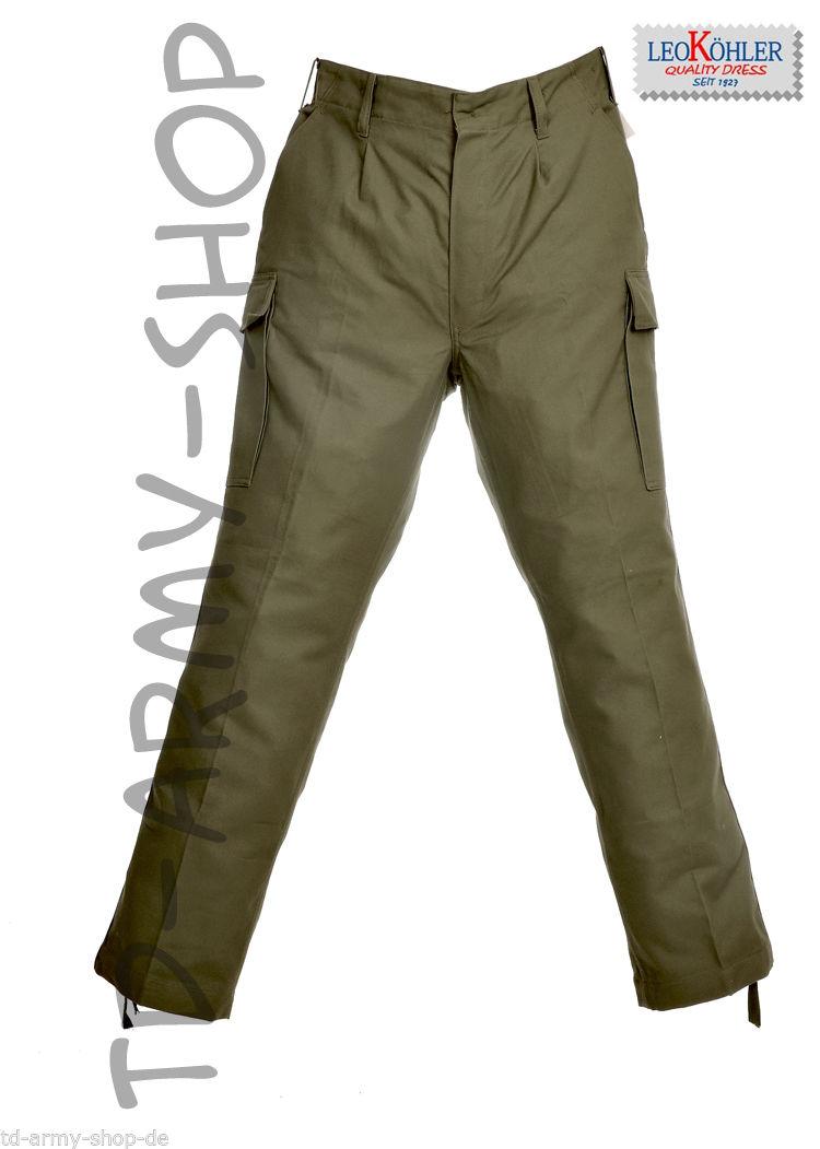 LEO KÖHLER Moleskinhose Bundeswehrhose Oliv Hose Trousers.Gr.54 / 10 / US 40/32