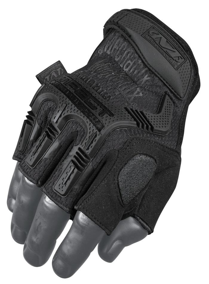 Mechanix Handschuhe M-Pact Fingerless Schwarz Gloves.