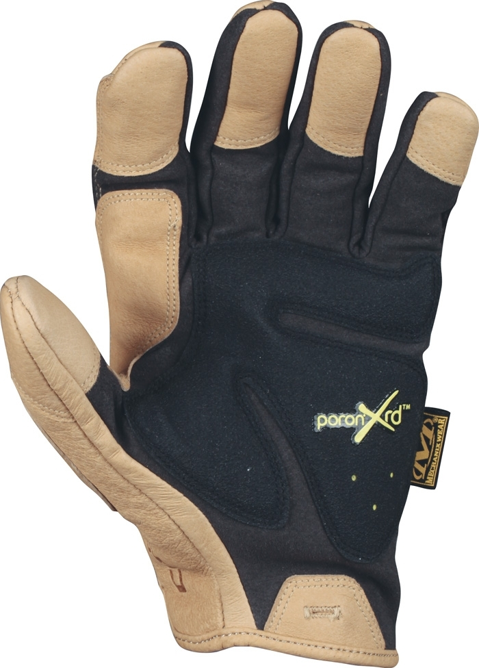 Mechanix Handschuhe Padded Palm Schwarz/Khaki Gloves BW.