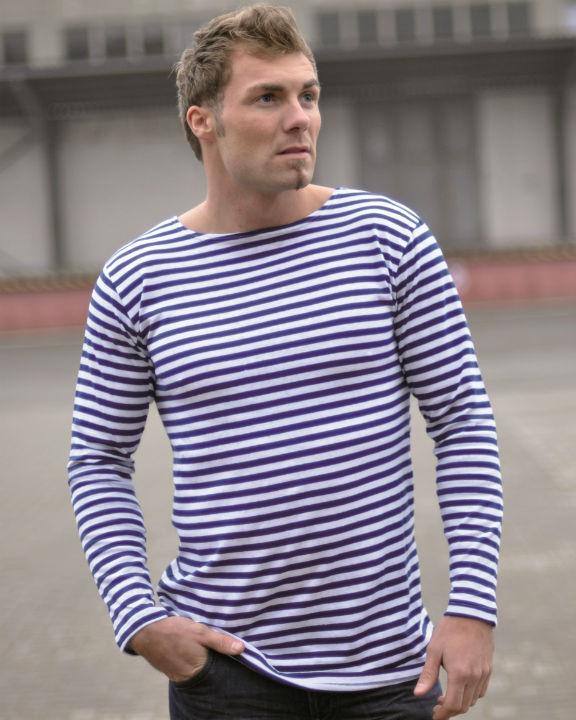 Russisches Marine Shirt Pullover Blau-Weiß gestreift Matrosen Marine.