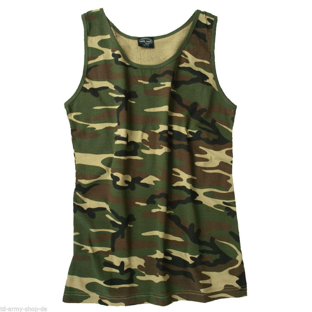 Woodland TANK TOP WOODLAND US ARMY Shirt Muskelshirt.