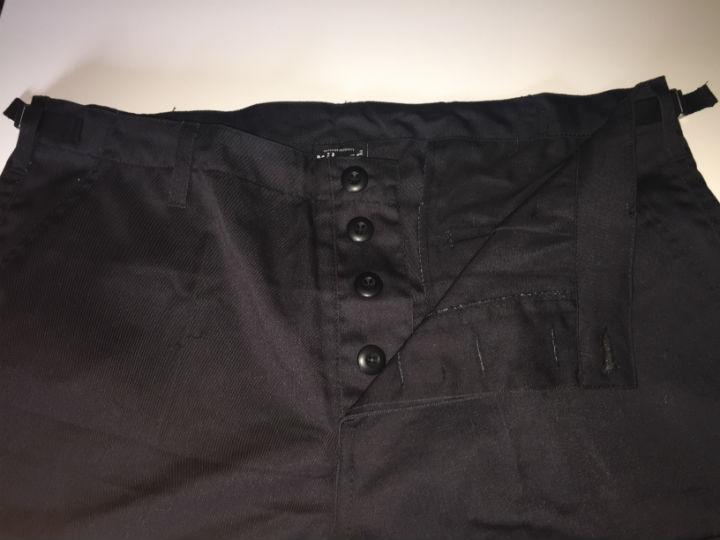 US BDU Shorts BERMUDA Hose kurz Combat Ranger Schwarz Black 11401002.