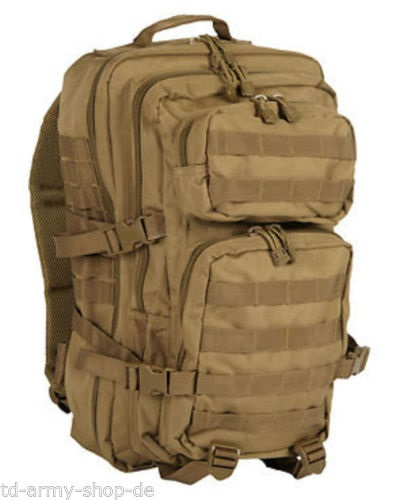 US ASSAULT PACK COYOTE Backpack Polyester Rucksack LARGE Groß.